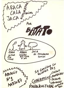Batato Primera aficheta 1987